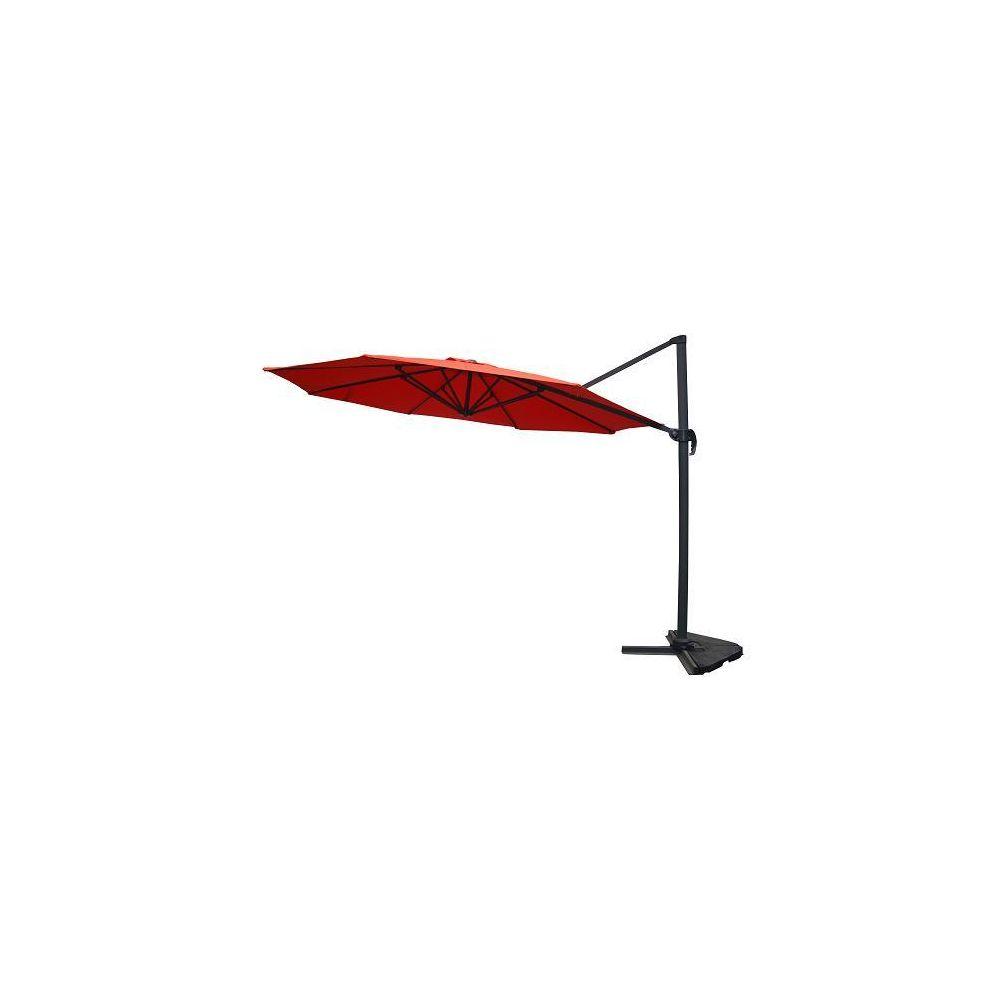 Kocoon Paris Targa terracotta - Parasol déporté rotatif Ø3,5 m