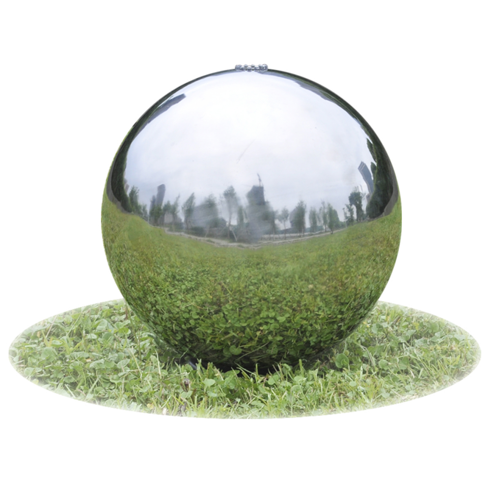 Vidaxl vidaXL Fontaine de jardin sphère avec LED en acier inoxydable 20 cm