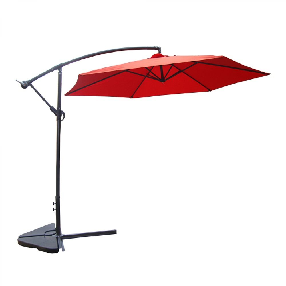 Concept Usine Porticcio terracotta : Parasol déporté Ø 300cm