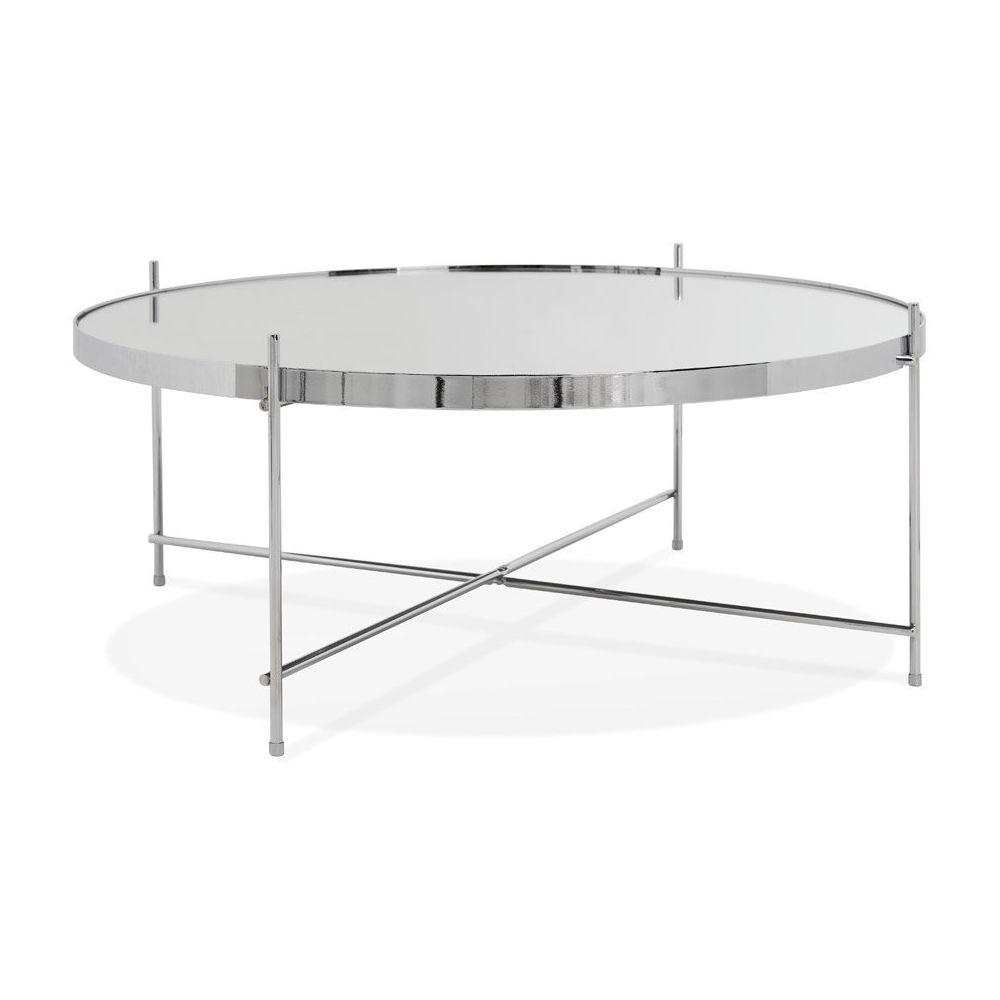 Alterego Table basse de salon 'KOLOS BIG' couleur chrome