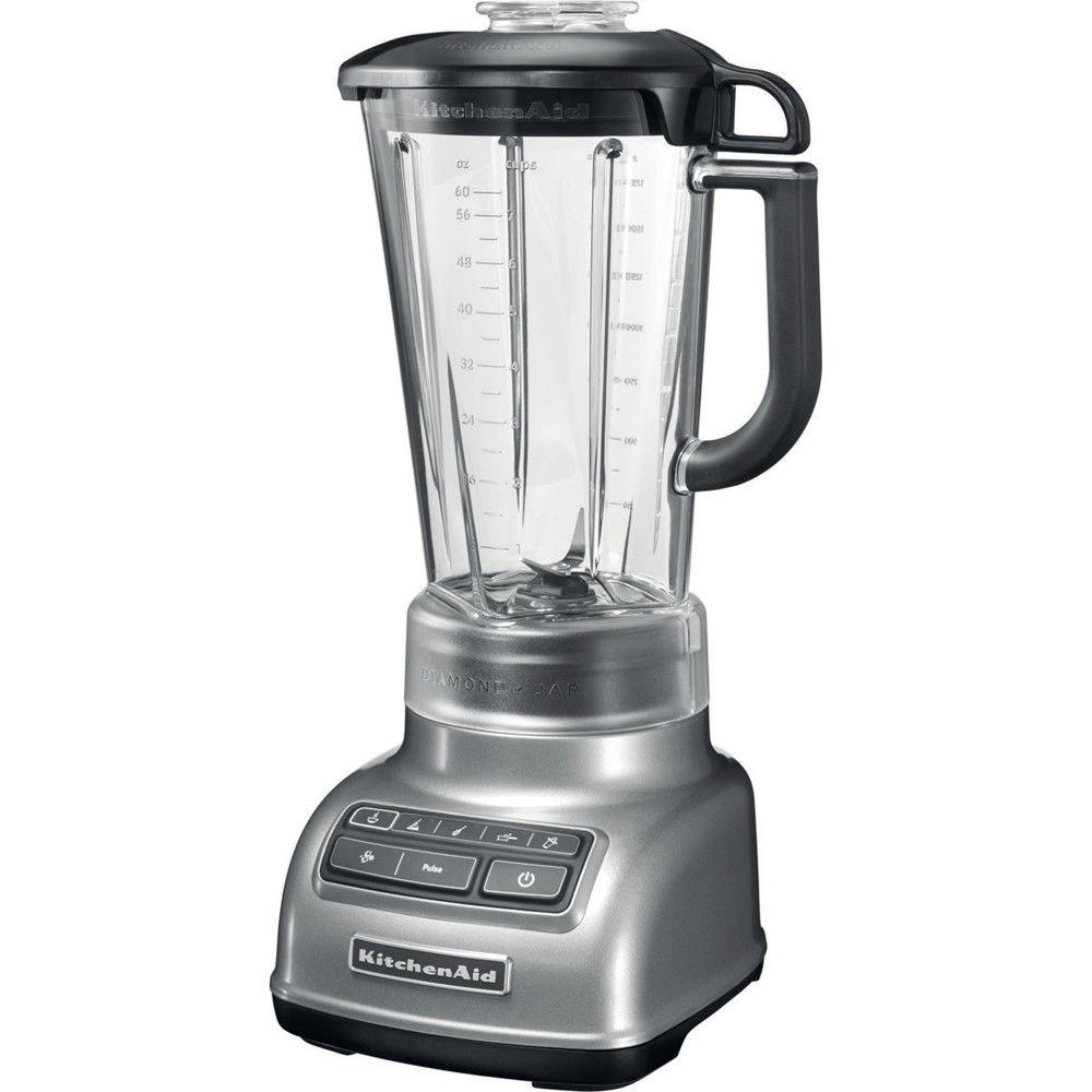 Kitchenaid blender mixeur électrique de 1,75L 550W gris argent