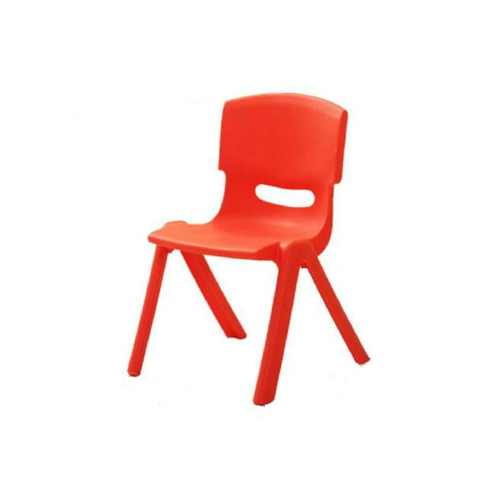 Wewoo Hauteur de siège de sécurité 24cm Épaississement Chaise d'enfant de jardin d'enfants de dossier avec petit tabouret Roug