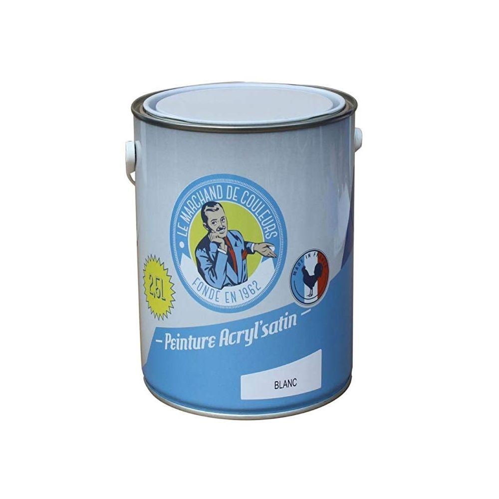 Onip Peinture acrylique - Murs et plafonds - Satin - Blanc - 2.5 L - ONIP
