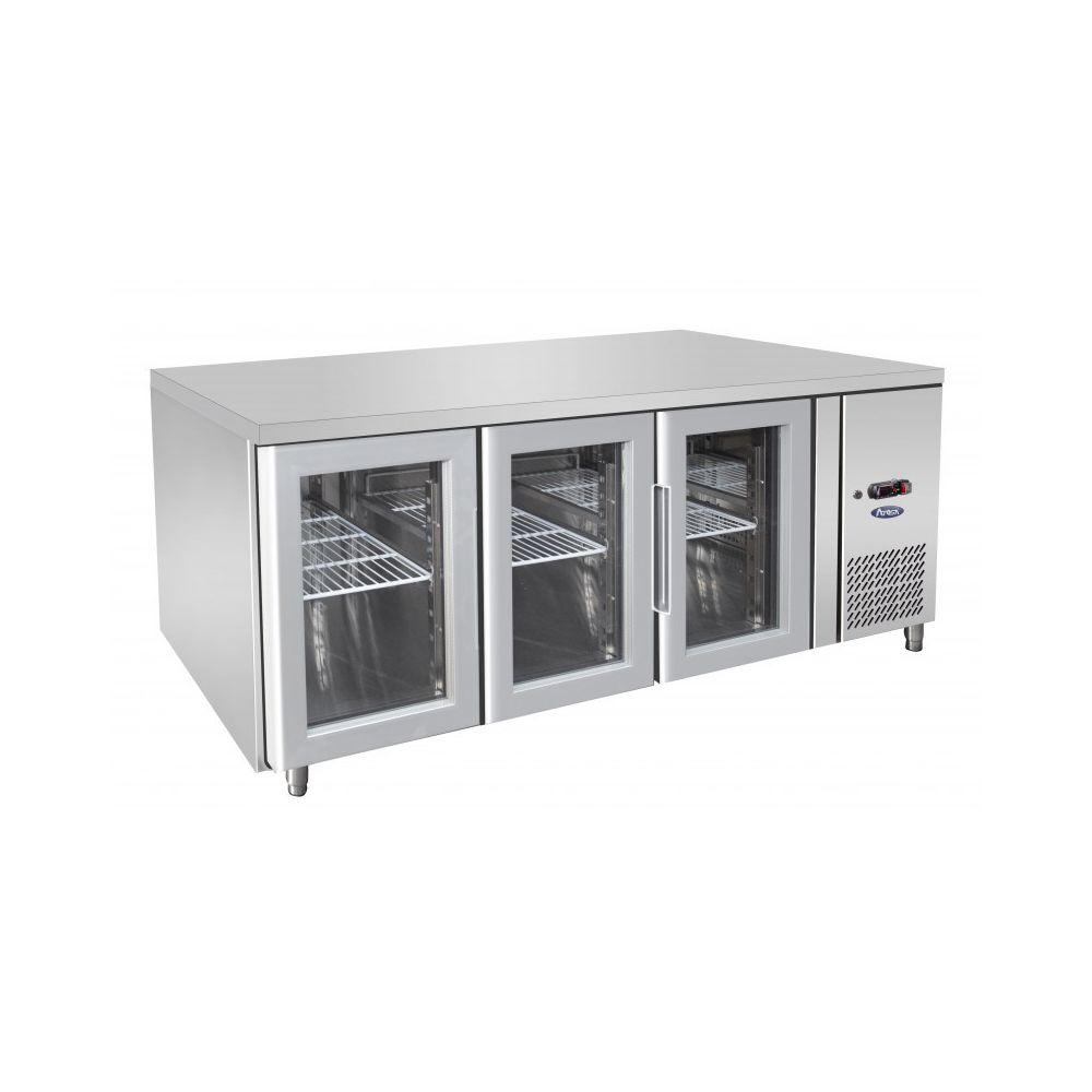 Atosa Table Réfrigérée Positive GN 1/1 de 3 Portes Vitrées - 420 L - Atosa - R290 3 Portes