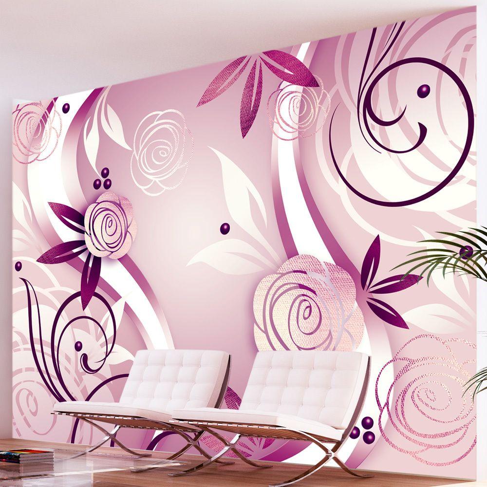 Bimago Papier peint   Fantaisie et roses   300x210   Fonds et Dessins   Motifs floraux  
