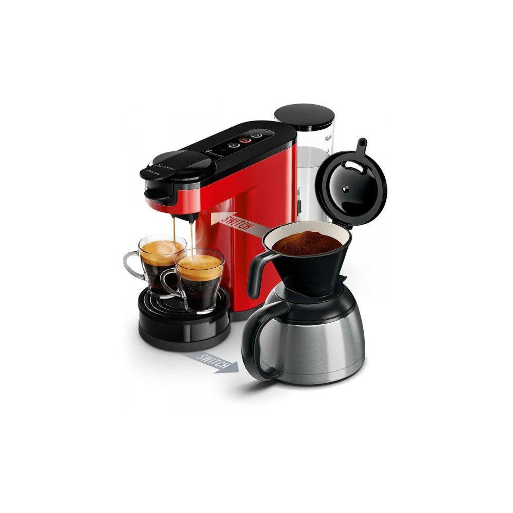 Philips PHILIPS SENSEO Switch Machine à café à dosettes et filtre Rouge HD6592/81
