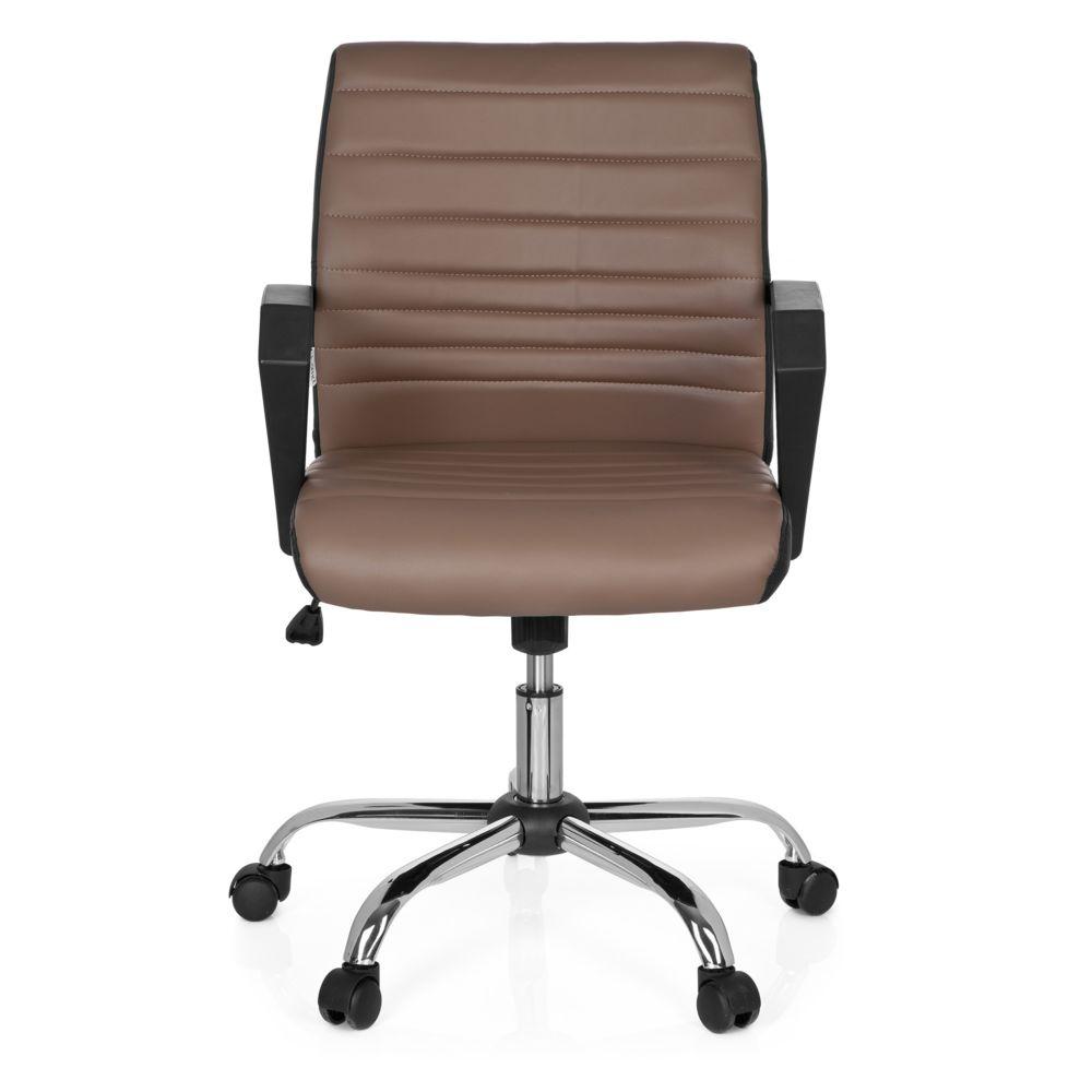 Hjh Office Chaise de bureau ERGOSMOOTH simili cuir noir / kaki hjh OFFICE