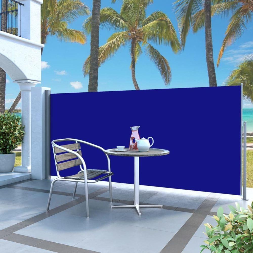 Vidaxl Auvent latéral rétractable 120 x 300 cm Bleu - Pelouses et jardins - Vie en extérieur - Parasols et voiles d'ombrage | B
