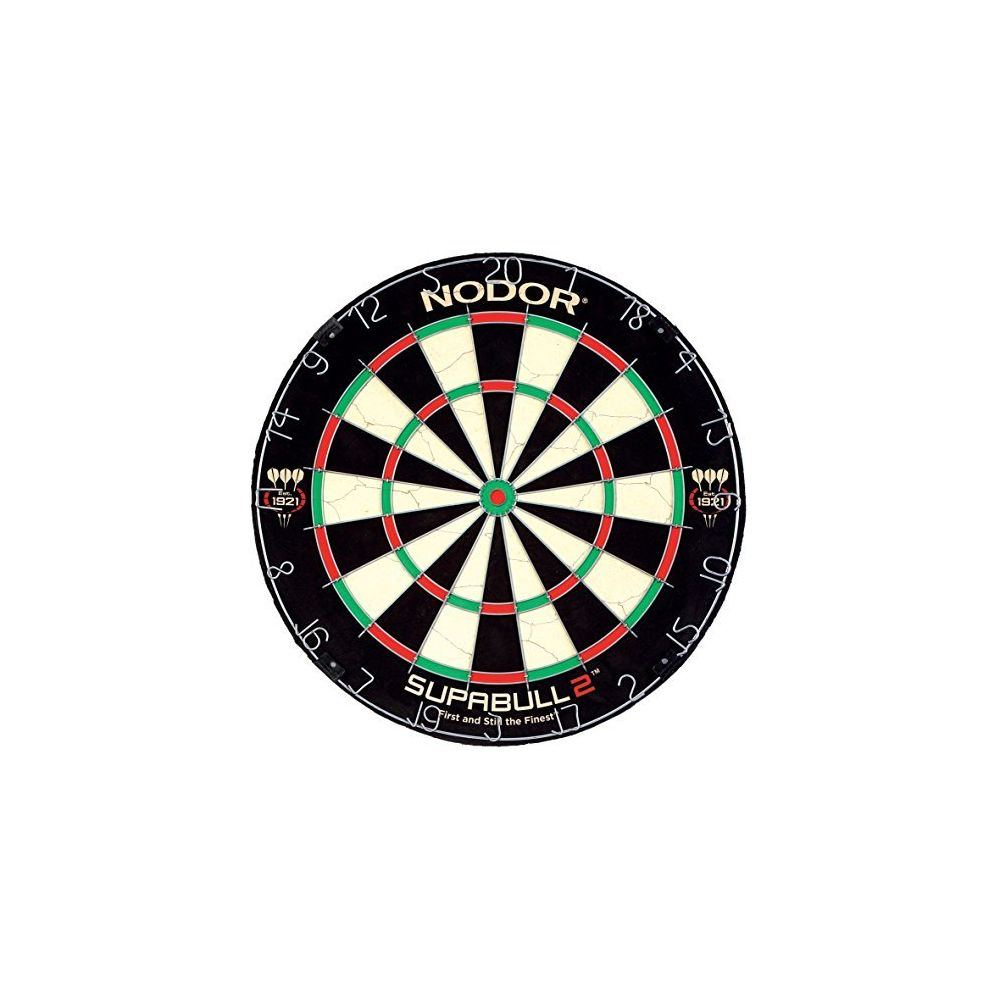 Nodor Nodor SupaBull2 Bristle Dartboard Equipped with Easy-Turn Steel Numbers for Beginning or Recreational Players