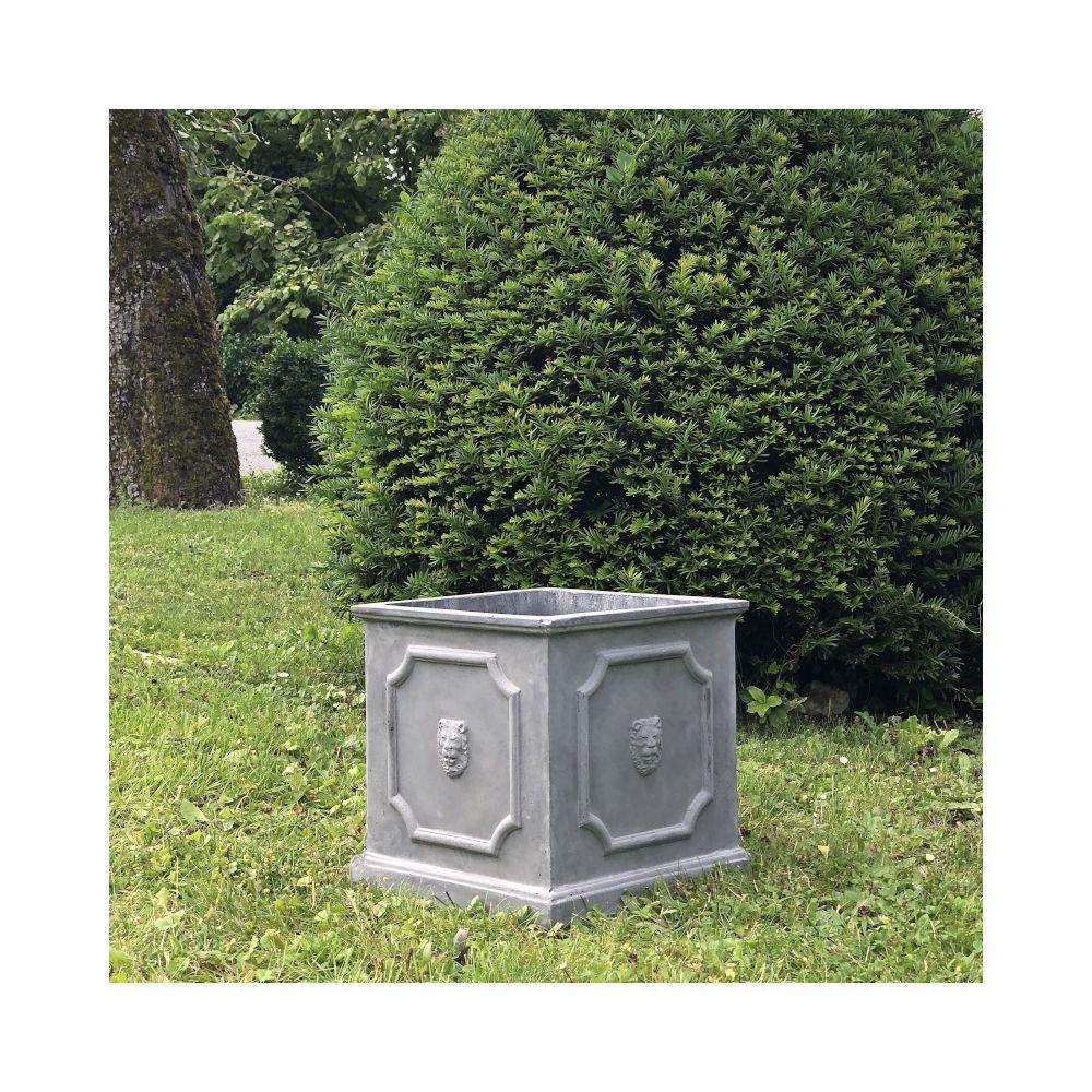 L'Originale Deco Jardinière Bac Pot à Plantes Arbre de Jardin d?Entrée Vase Jardiniere Vasque Medicis 31 cm x 31.50 cm