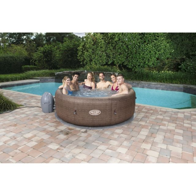 Bestway - Spa Gonflable Rond BESTWAY Lay-Z-Spa  Airjet St Moritz 5/7 Places - Spas, Jacuzzis, Saunas