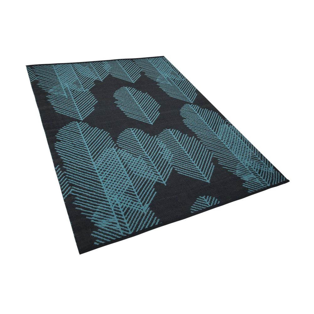 Beliani Beliani Tapis rectangulaire réversible anthracite 160 x 230 MEZRA - noir