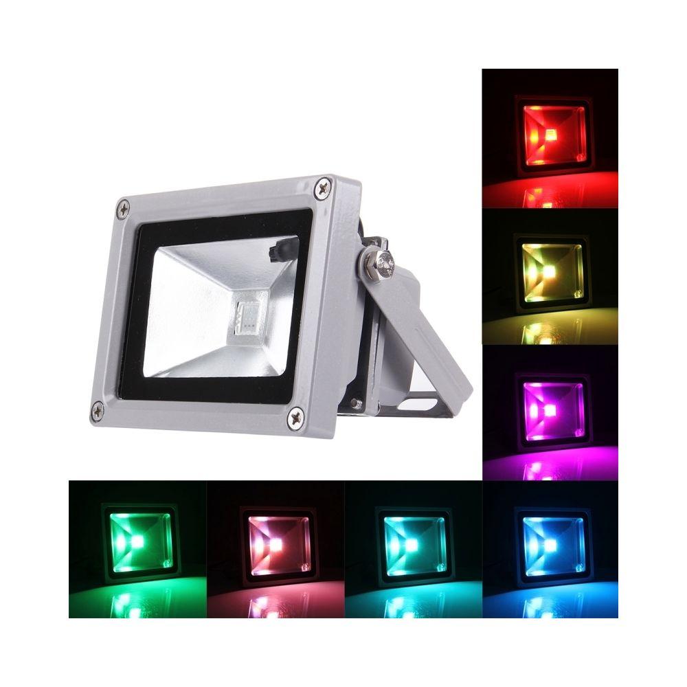 Wewoo Projecteur LED 10W 750LM IP65 étanche RVB lampe de avec télécommande, AC 110-265V lumière colorée