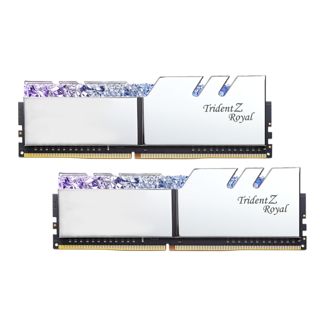 G.Skill - Trident Z Royal - 2 x 8 Go - DDR4 3000 MHz CL16 - Argent - RAM PC Fixe