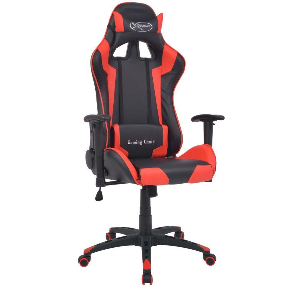 Vidaxl Chaise de bureau inclinable Cuir artificiel Rouge - 20172 | Rouge