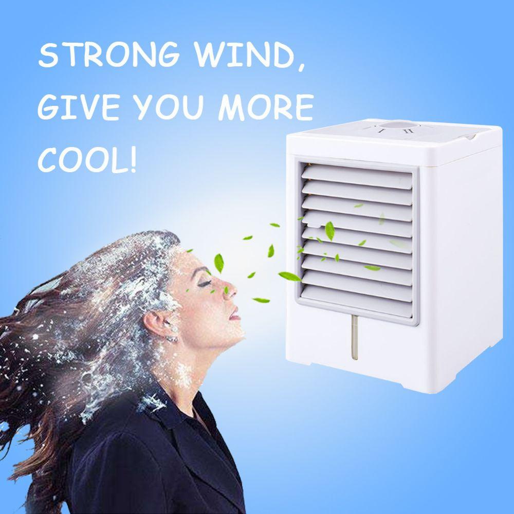 Generic Ordinateur de bureau à domicile USB USB ventilateur de climatiseur contrôlé par machine Mini refroidisseur portable - bl