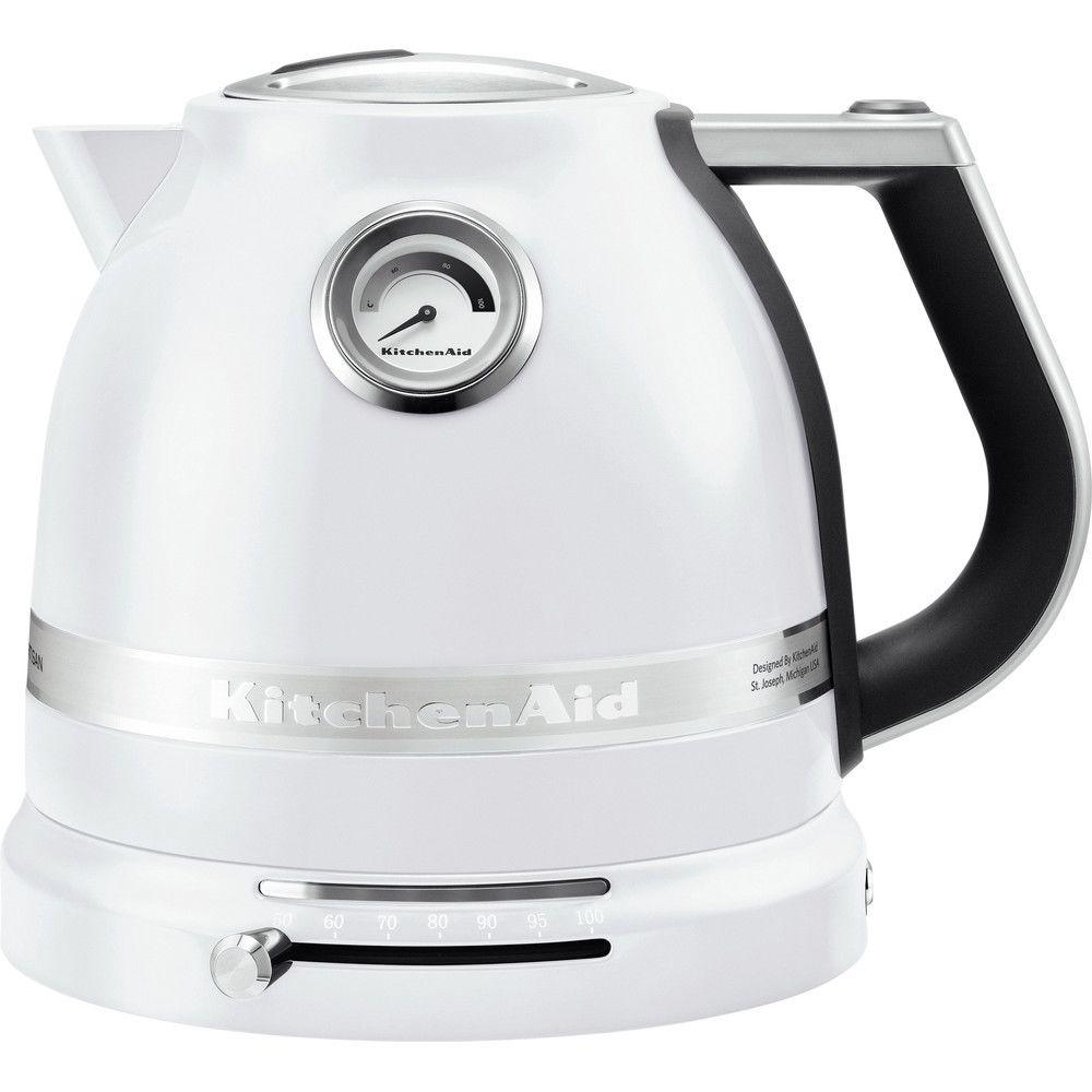 Kitchenaid bouilloire électrique de 1,5L 2400W blanc givré argent