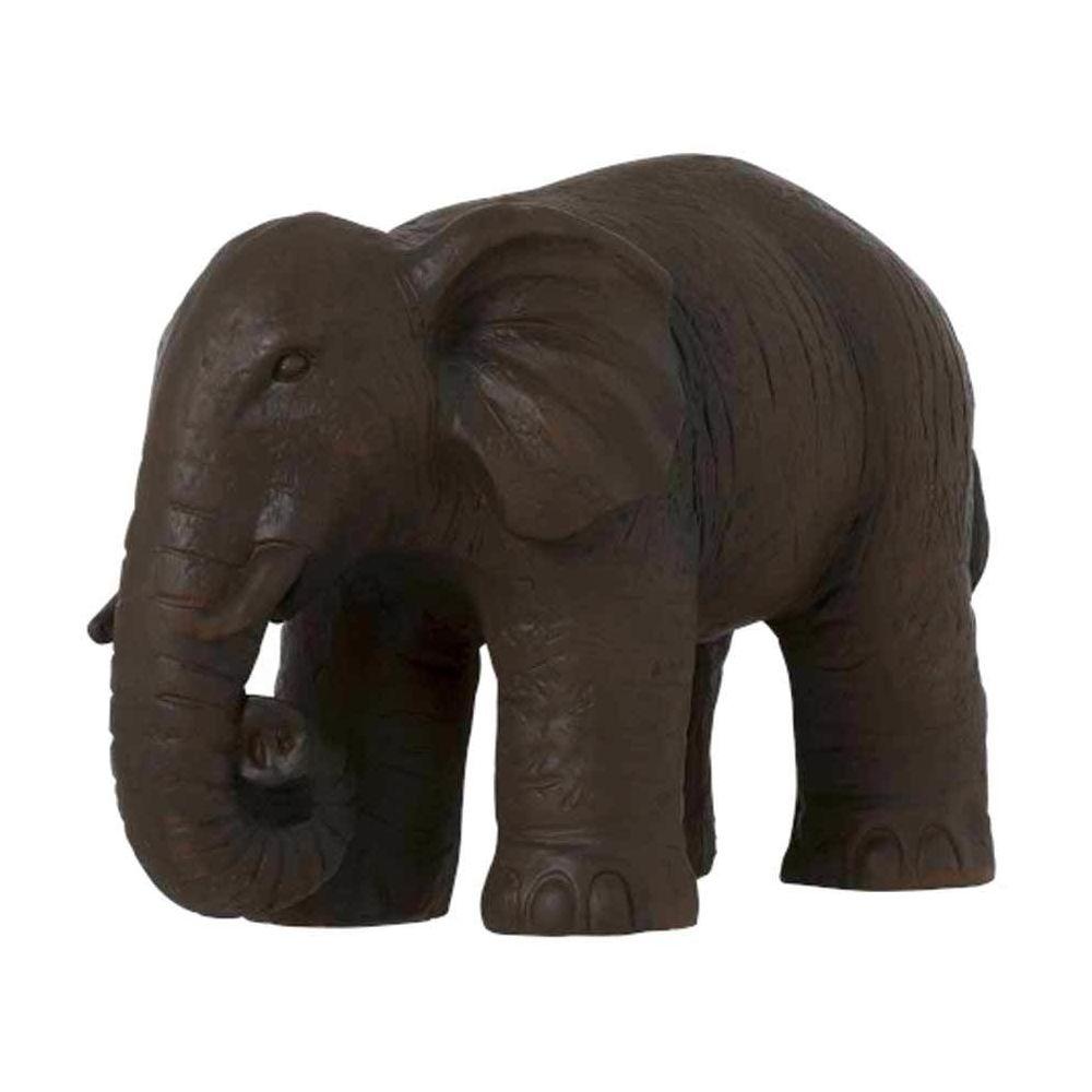 JOLIPA Grande Statue en résine Éléphant Marron
