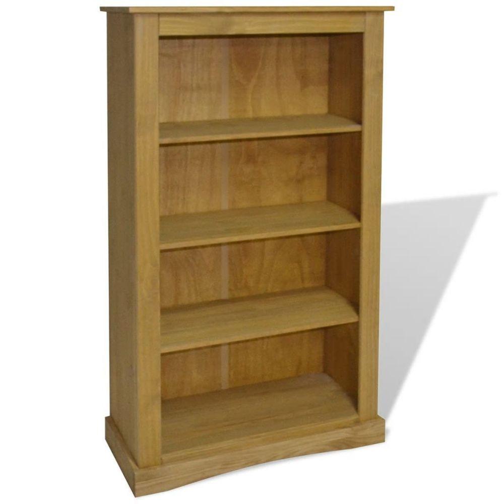 Helloshop26 Étagère armoire meuble design bibliothèque à 4 niveaux pin 150 cm 2702017/2