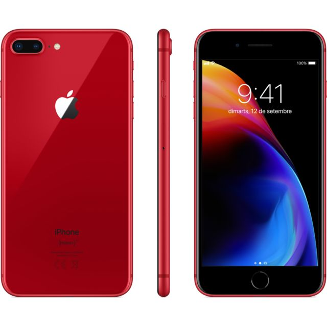 Apple - iPhone 8 Plus - 64 Go - MRT92ZD/A - PRODUCT RED Special Edition - iPhone