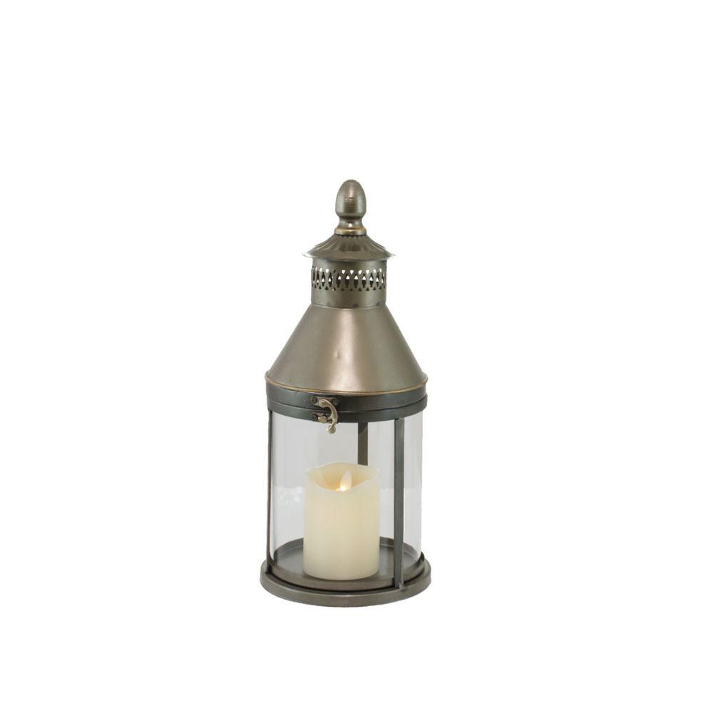 L'Originale Deco Lanterne à Poser Style Tempête en Fer 40 cm