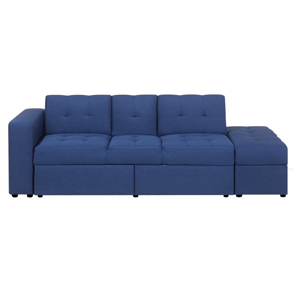 Beliani Canapé avec multi-rangement bleu FALSTER
