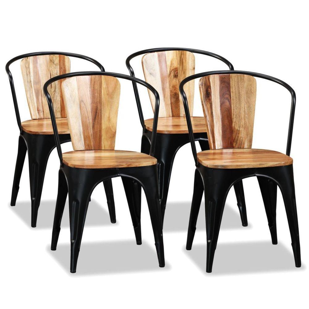 Vidaxl vidaXL Chaise de salle à manger 4 pcs Bois d'acacia massif