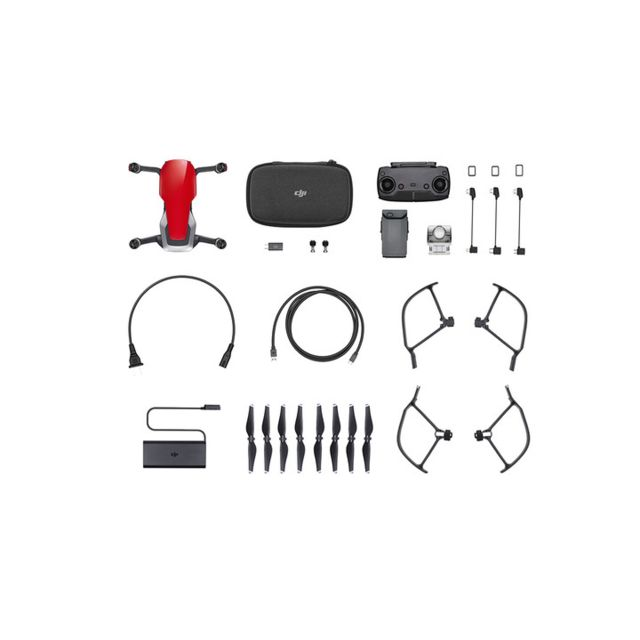 Drone connecté Dji DJI-MAVIC-AIR-FLY-MORECOMBO-RED