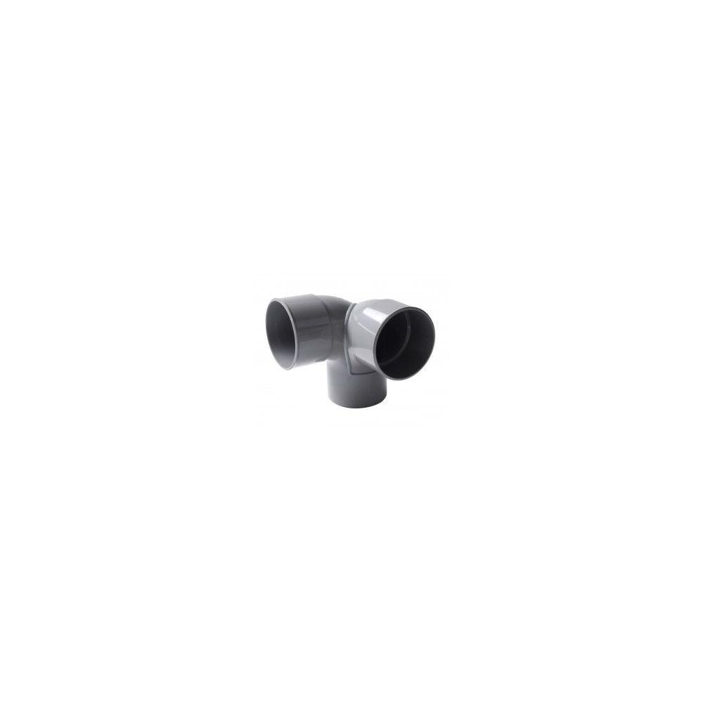 Nicoll 'Coude double 87°30 MF PVC équerre gris - Ø 100 mm'''