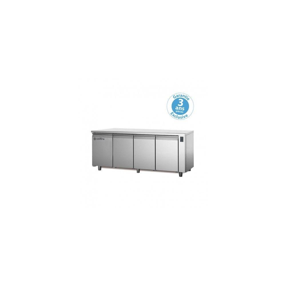 Materiel Chr Pro Table réfrigérée positive - sans groupe - 4 portes - 560 litres - profondeur 800 - 600 x 400 - avec dessus -