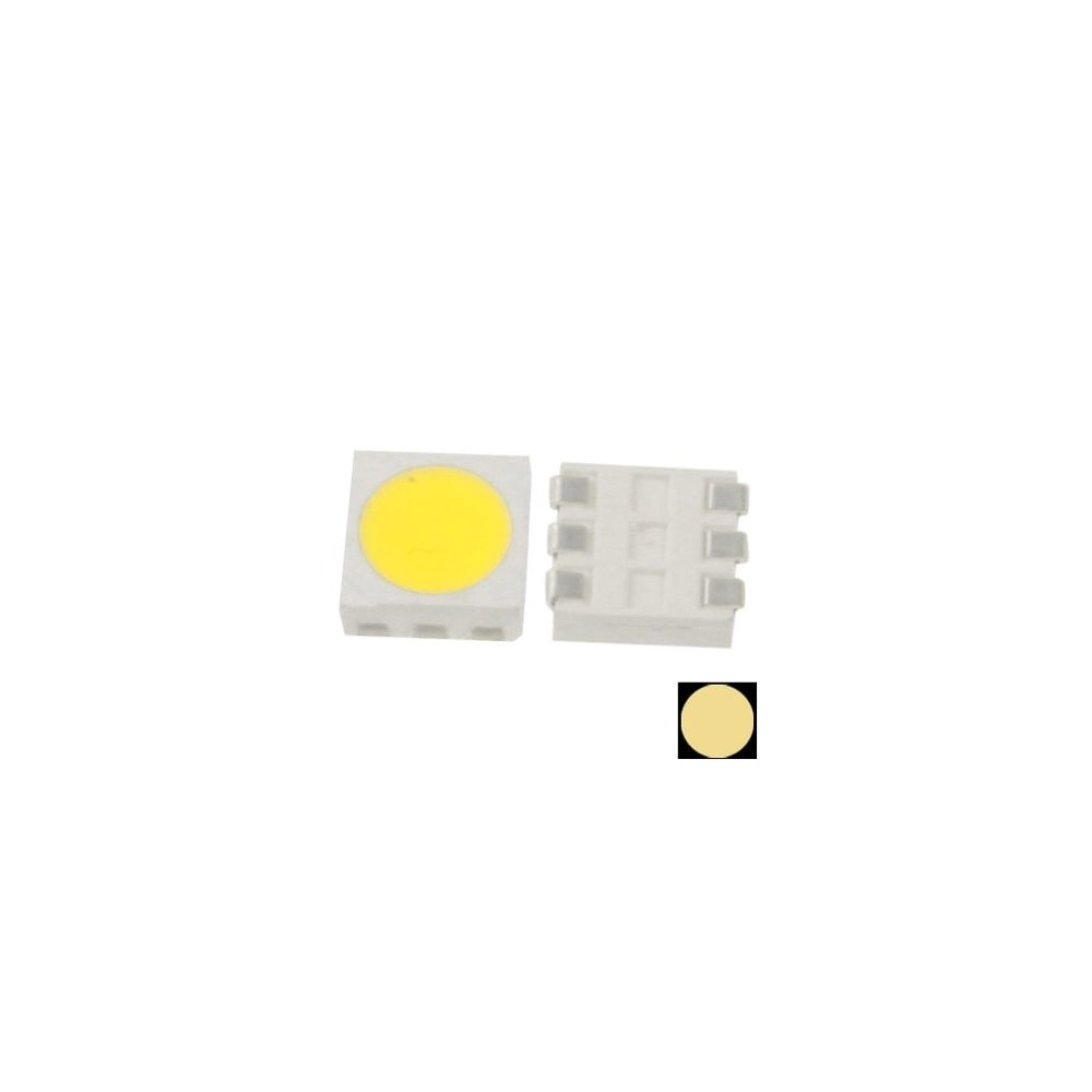 Wewoo LED Perle pour 1000pcs 1000x SMD 5050 Diode lumineuse blanche chaude de LED, flux lumineux: 14-16lm 1000pcs dans un emba