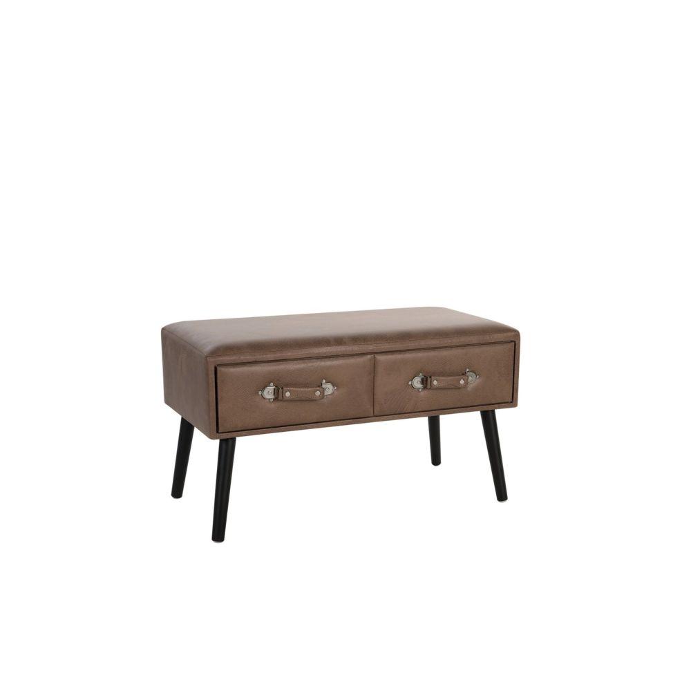 Beliani Beliani Table basse en simili-cuir marron AMTRAK - marron