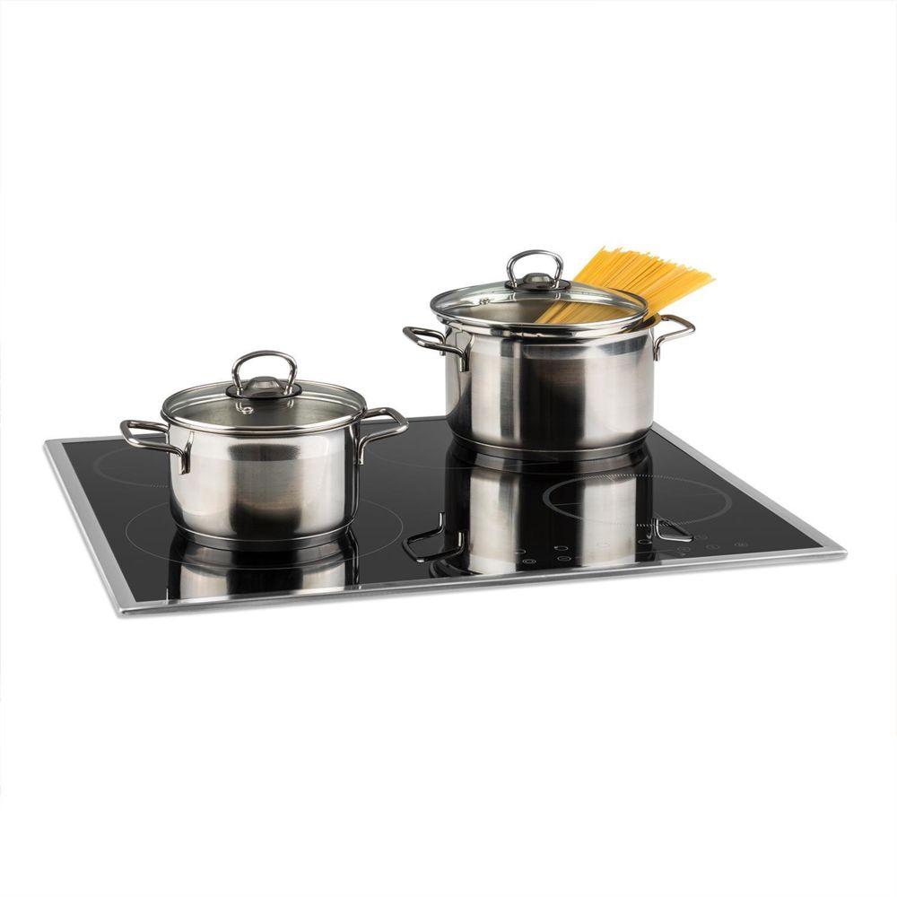Klarstein Klarstein Virtuosa Slide Table de cuisson encastrable - 4 plaques - 6600W max. - Vitrocéramique et inox