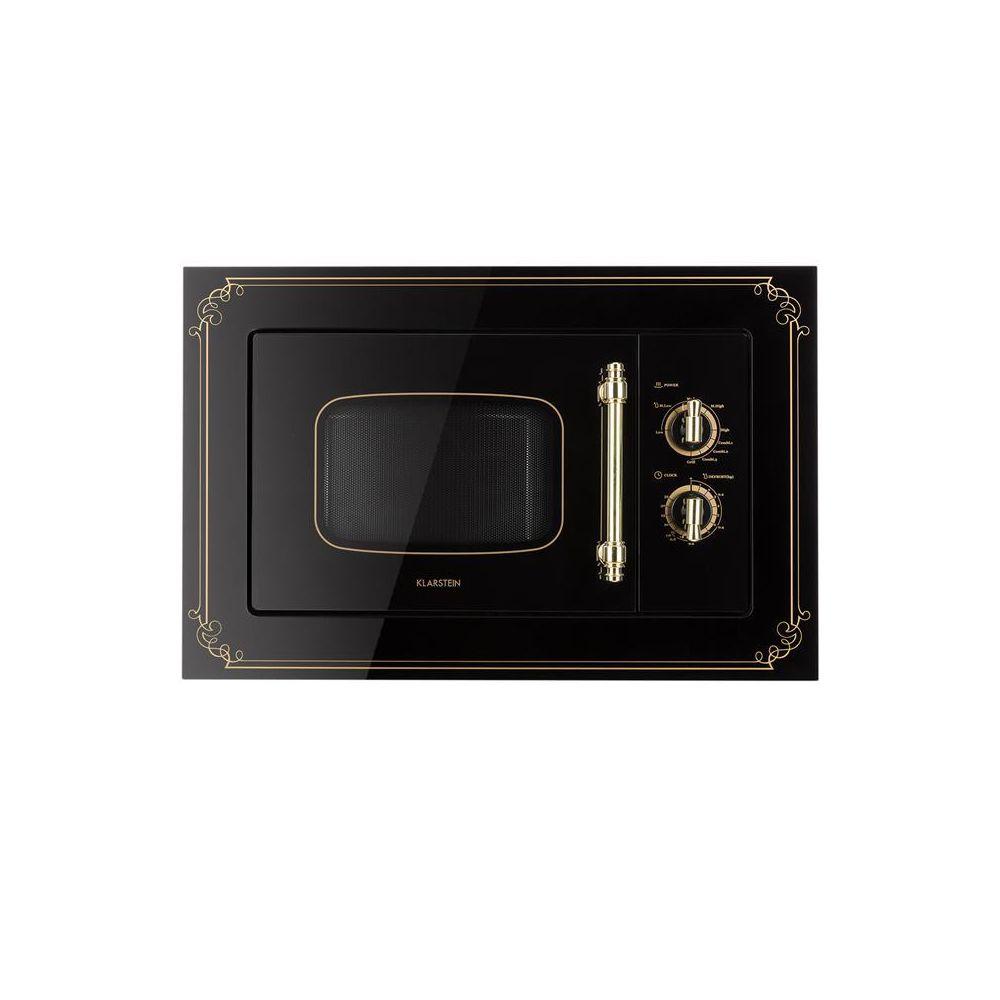 Klarstein Klarstein Victoria 20 Einbau-Mikrowelle, 20 l, 800 W, Grill: 1000 W, schwarz Klarstein