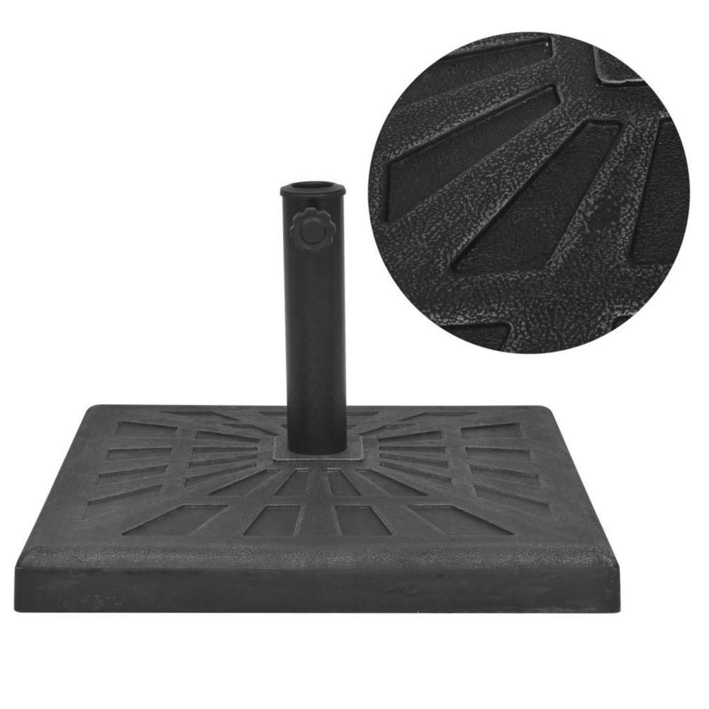 Vidaxl vidaXL Base carrée de parasol Résine Noir 19 kg