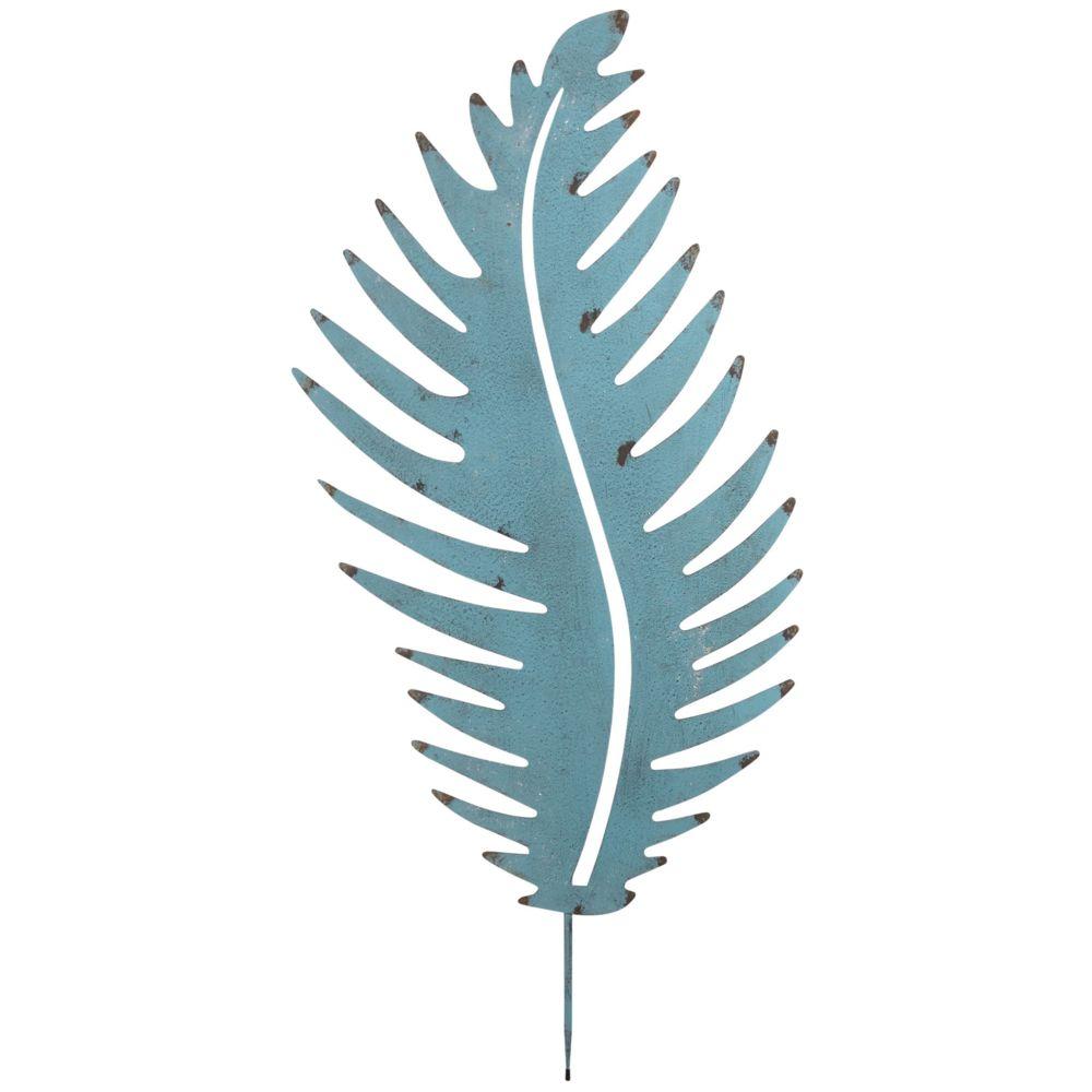 Aubry Gaspard Feuille déco en métal antique à planter