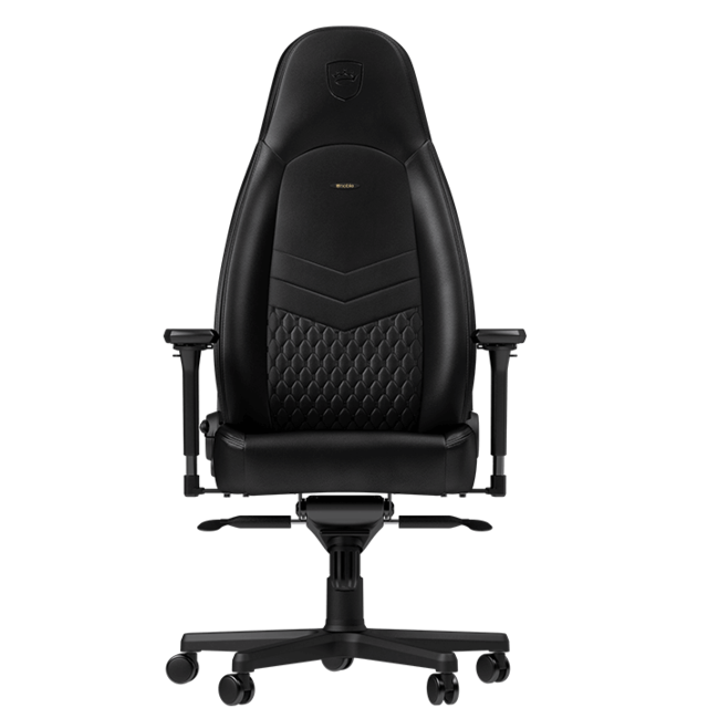 Noblechairs - ICON - Vrai Cuir - Noir - Chaise gamer