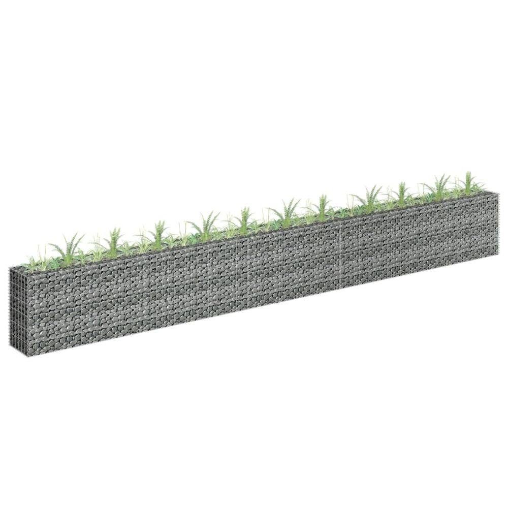 Generic Jardinière à gabion Acier galvanisé 450x30x60 cm