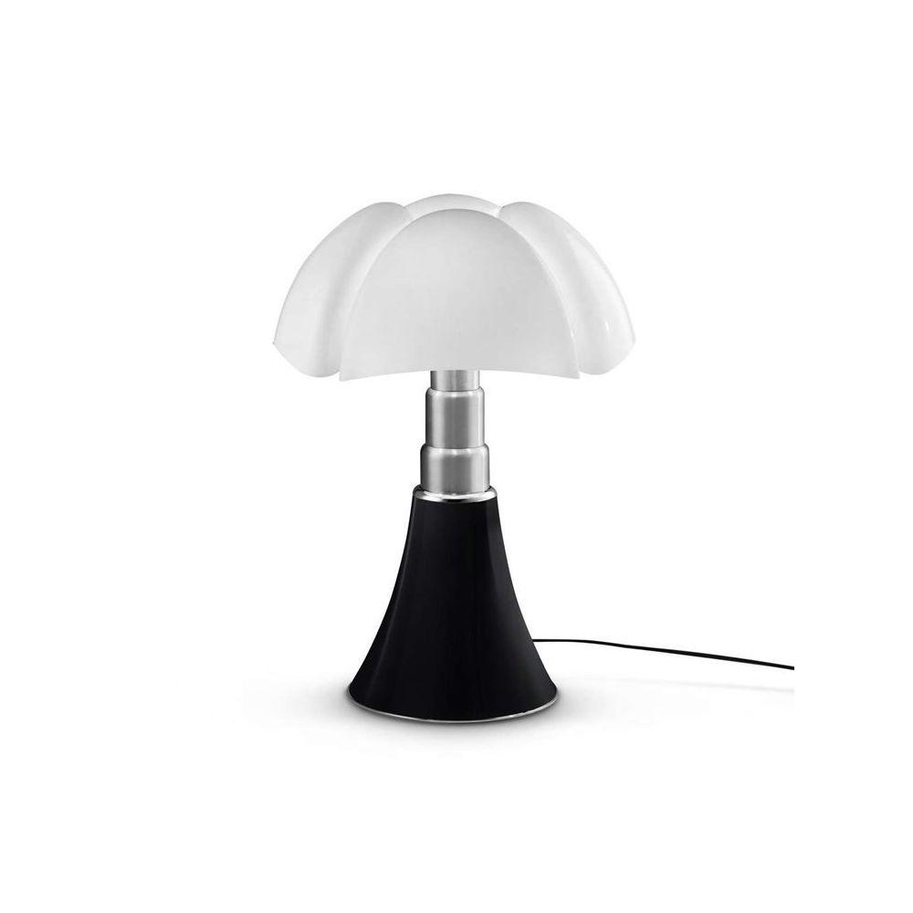 Martinelli Luce PIPISTRELLO MEDIUM-Lampe Dimmer LED pied télescopique H50-62cm Noir Martinelli Luce - designé par Gae Aulenti