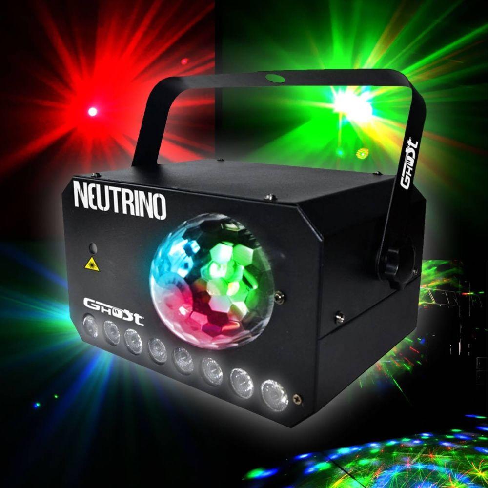 Ghost Jeu de lumière 3 en 1 - stroboscope - laser - flower GHOST NEUTRINO