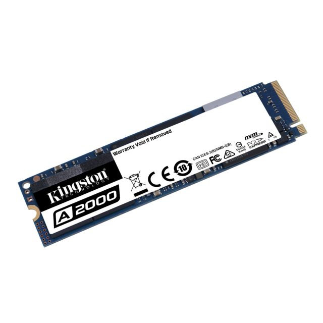 Kingston - A2000 500 Go - M.2 PCIe (NVMe) - Disque SSD M.2