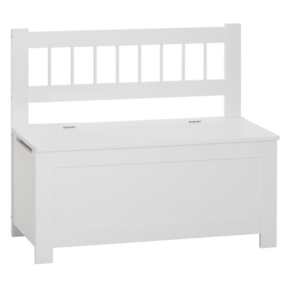 Pegane Banc / coffre à jouets en bois coloris blanc - L.74 x l.34 x H.64 cm -PEGANE-