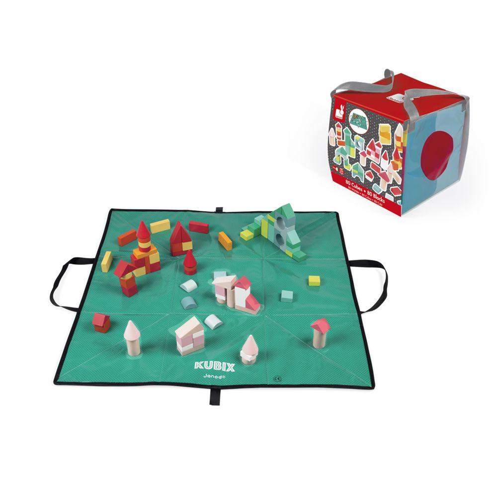 Janod Cubes Kubix : 80 cubes