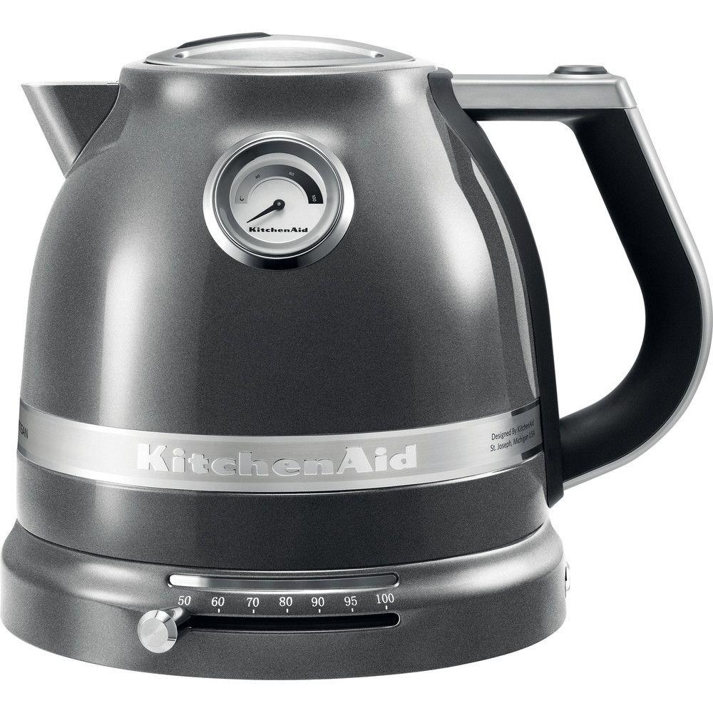 Kitchenaid bouilloire électrique de 1,5L 2400W gris étain argent