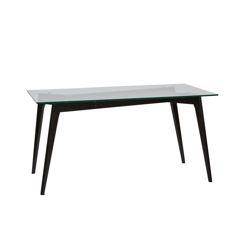 Tousmesmeubles Table de repas Verre/Noir - SAMBA