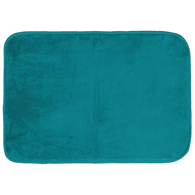 Douceur D'Interieur - CDaffaires Tapis rectangle 120 x 170 cm velours uni louna Bleu lagon Douceur D'Interieur   - Douceur D'Interieur