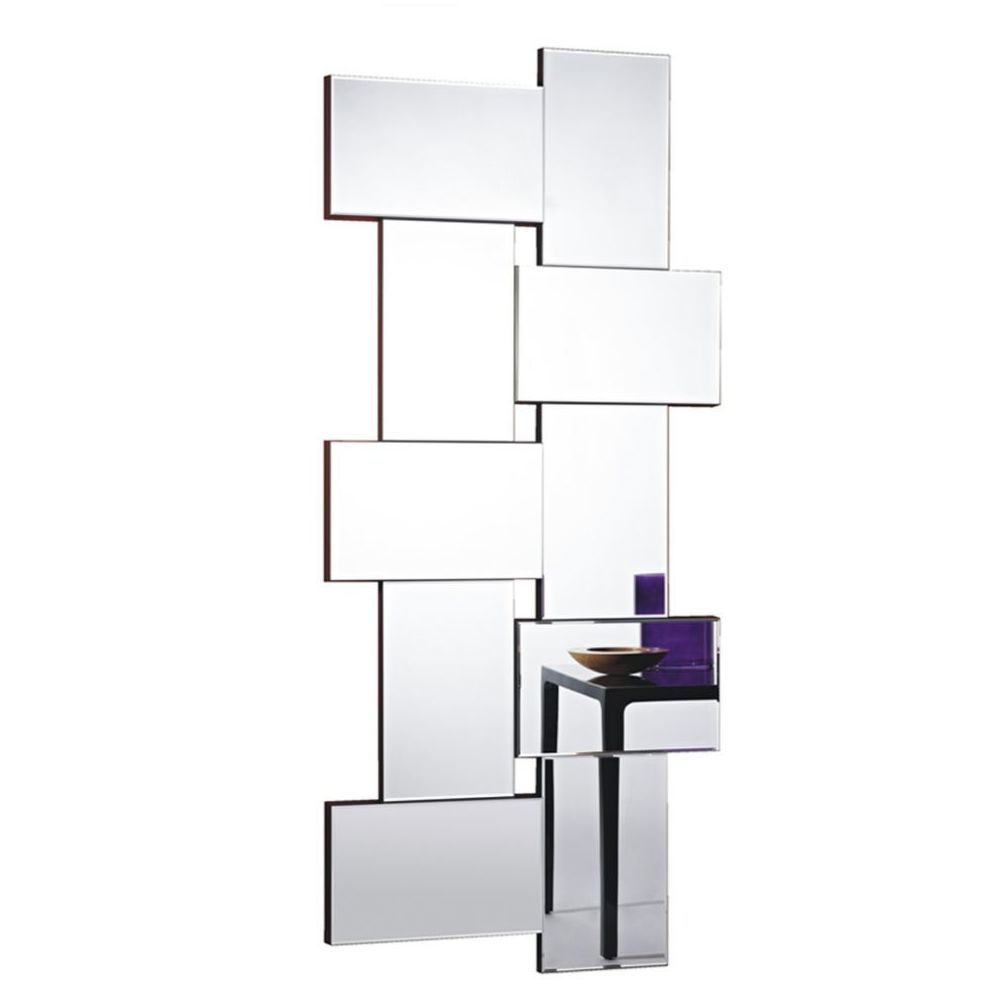 Deknudt Mirrors Miroir design Criss Cross Contemporain Rectangulaire Naturel