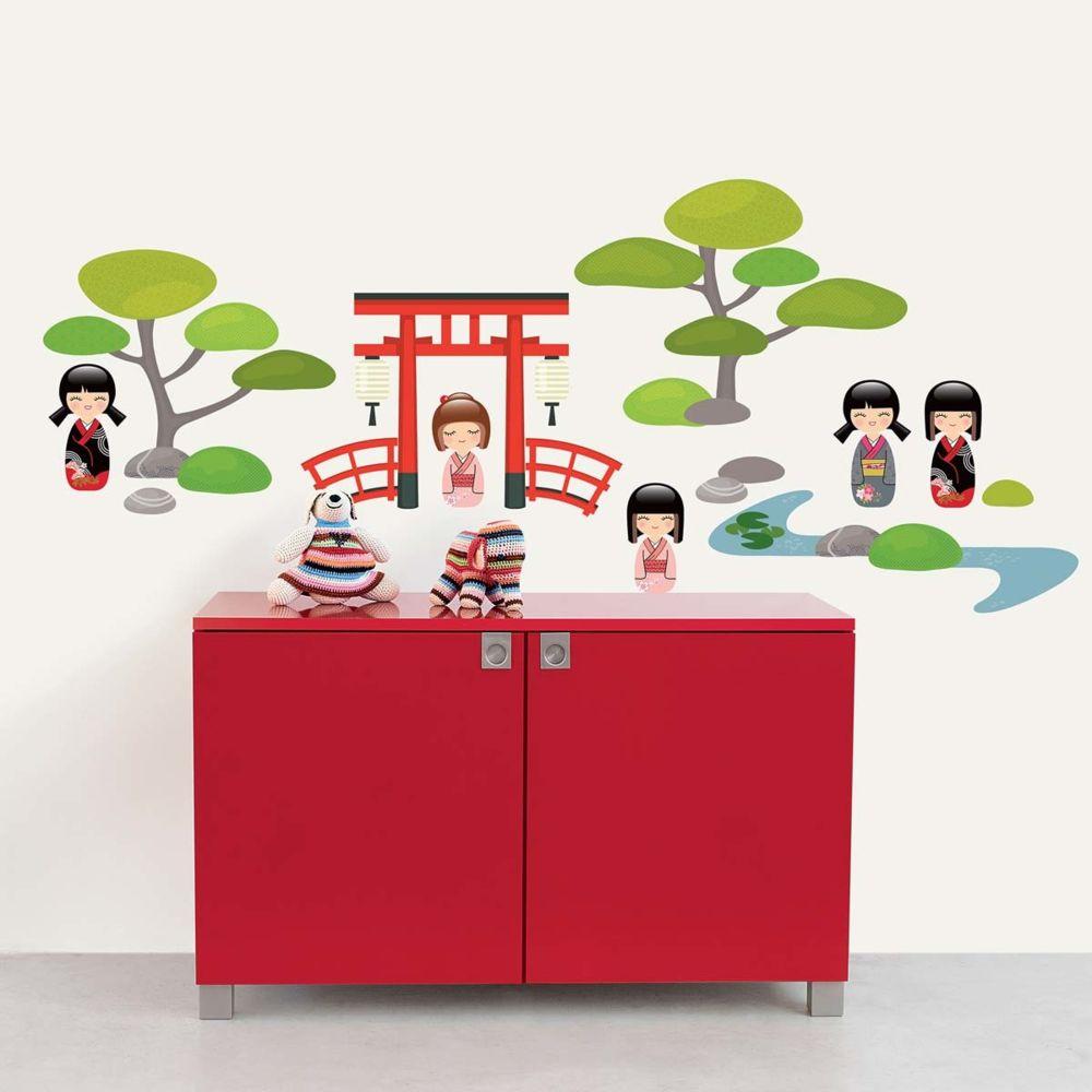 Nouvelles Images Sticker mural Jardin japonais