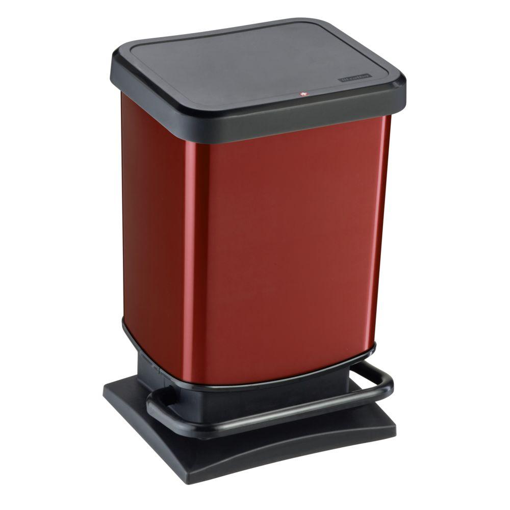 Rotho PASO - Poubelle à pédale - 20L - Rouge - 7540004