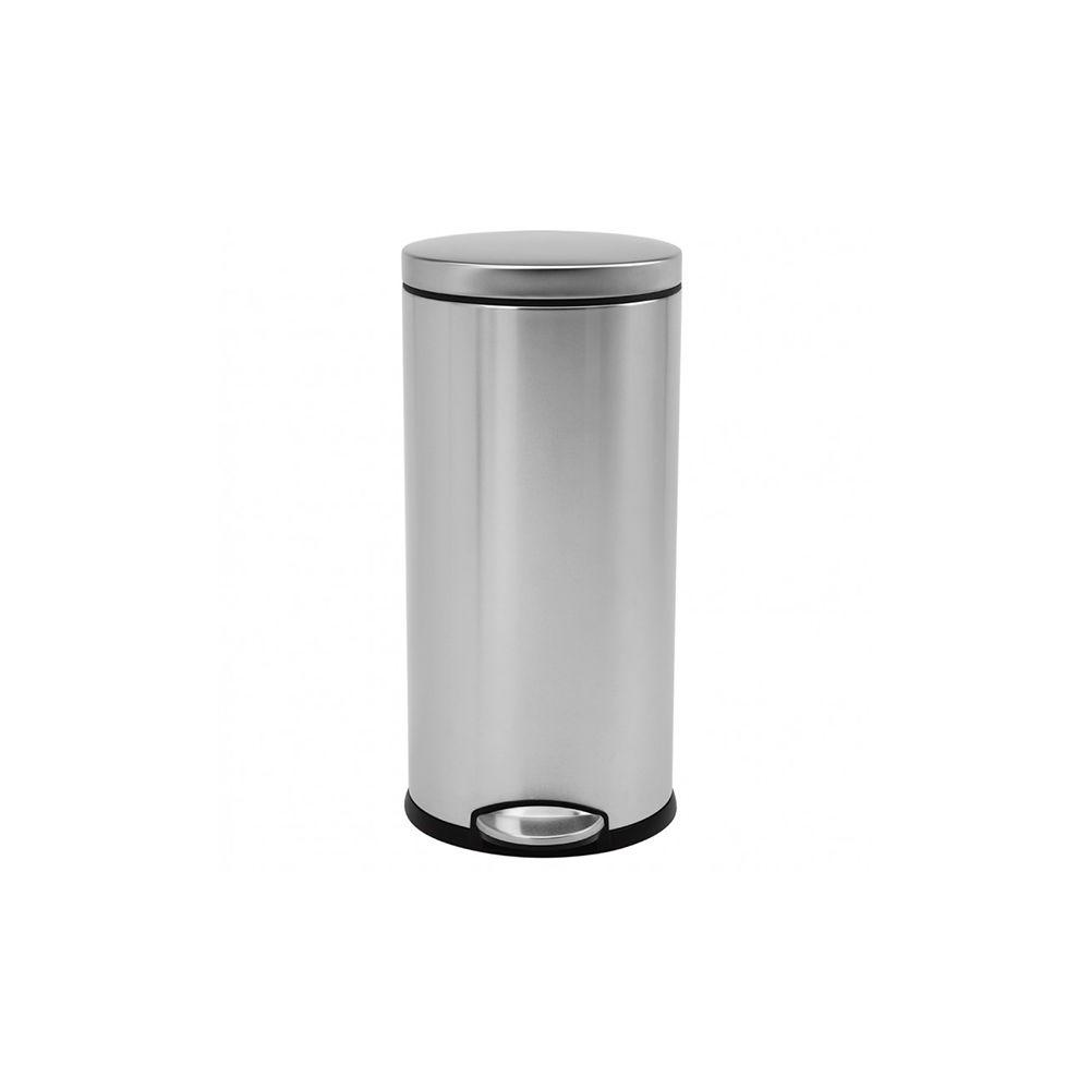 Simplehuman simplehuman - poubelle ronde à pédale 30l inox - cw1810